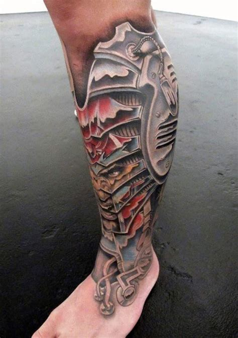 lower leg tattoo for men biomechanical tattoos for ideas and inspiration for guys