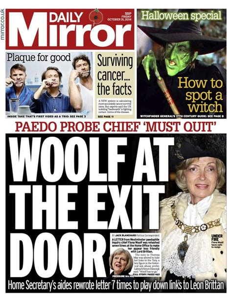 Daily Mirror Uk Front Page For 14 October 2017 newspaper thread and front pages friday 31 october 2014