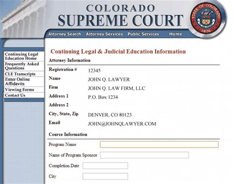 colorado supreme court cle for cle