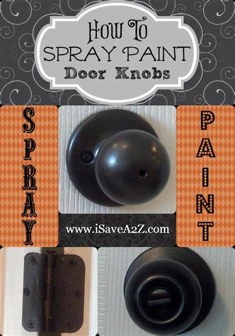 spray paint door knobs yes you can so easy you won t