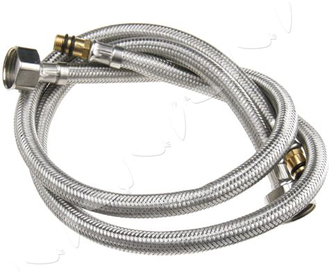 Kitchen Water Hose 2 X Braided Water Hose Pipe 60cm For Kitchen Faucets