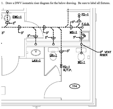 How To Find Blueprints Of Your House 1 Draw A Dwv Isometric Riser Diagram For The Belo