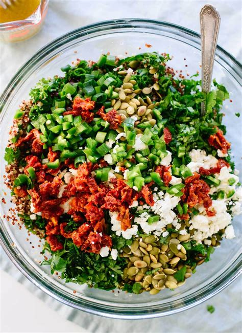mexican quinoa salad with black beans and shape magazine mexican ish kale quinoa salad recipe cookie and kate