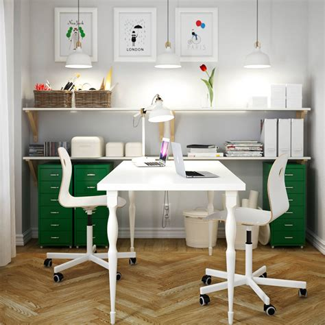 Home Office Furniture Ideas Ikea Home Office Furniture For Two