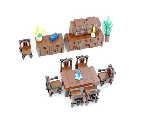 lego ideas minifig furniture dining room