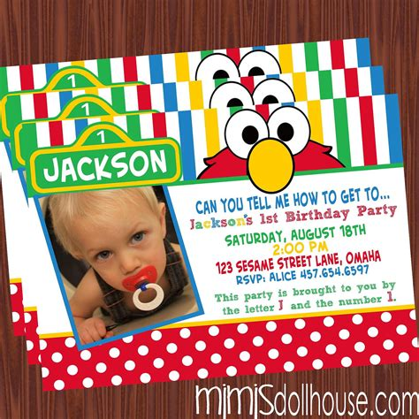 sesame invitations on elmo invitations sesame signs and sesame