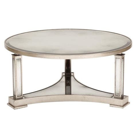 antique silver coffee table tully hollywood regency silver antique mirror round coffee