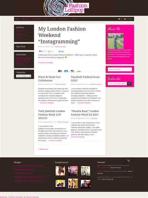 layout fashion blog fashion blog design archives wordpress web design in london