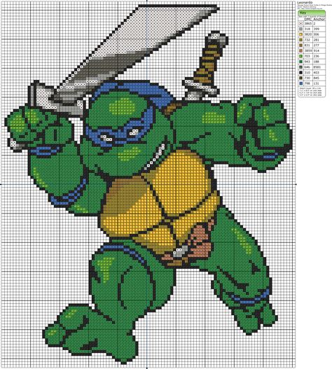 ninja gi pattern teenage mutant ninja turtles leonardo birdie stitching