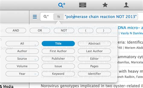 Find Advanced Search Advanced Search And Powerful Filtering Of Articles Within Your Library Papers 3 For