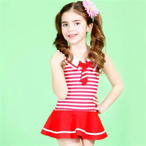 aliexpress models lovely uk style navy stripes girls swimwear cute baby girl