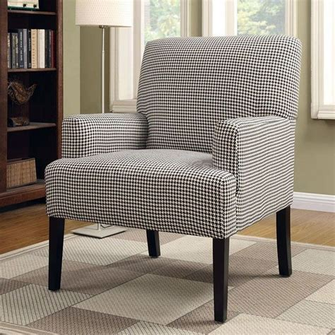 accent chair for bedroom houndstooth patterned accent chair master bedroom