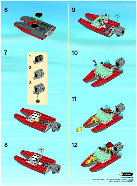 lego boat directions lego fire speedboat instructions 30220 city