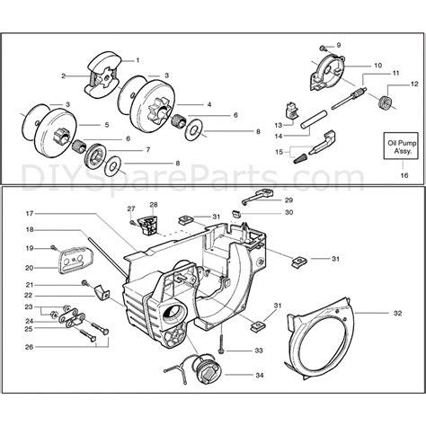 husqvarna chainsaw diagram husqvarna 136 chainsaw 2005 parts diagram page 3