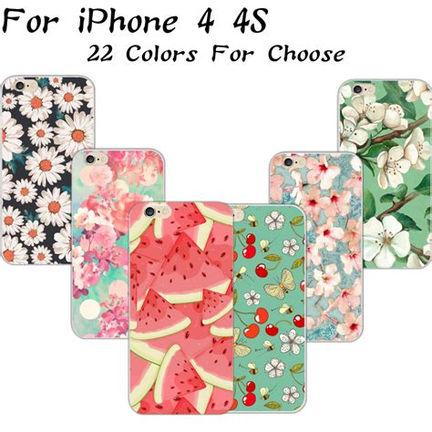 Iphone 4 4s Tropical Fruits Pattern Cover Casing Hardcase 4 4s summer temptation fruits series pattern flowers silicon phone cases for apple iphone 4s 4