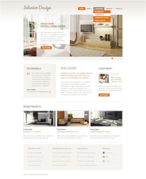 Interior Design Responsive Website Template 39607 Free Responsive Website Templates For Interior Design