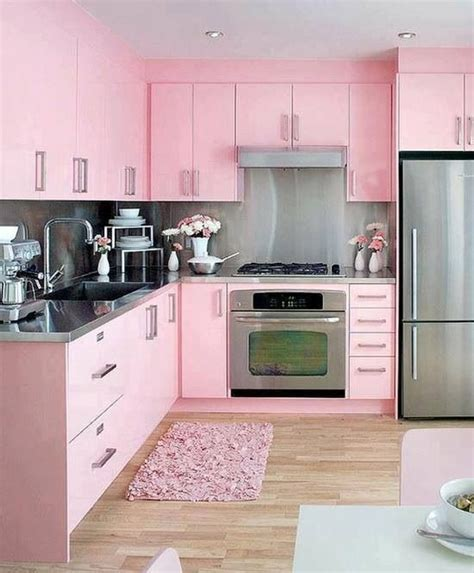 ideas  pink kitchens  pinterest pink