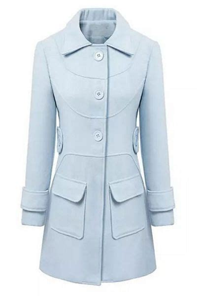 graceful light blue trench coat s fashion