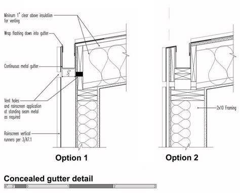 gutter section detail case study house status the roof planes and cases