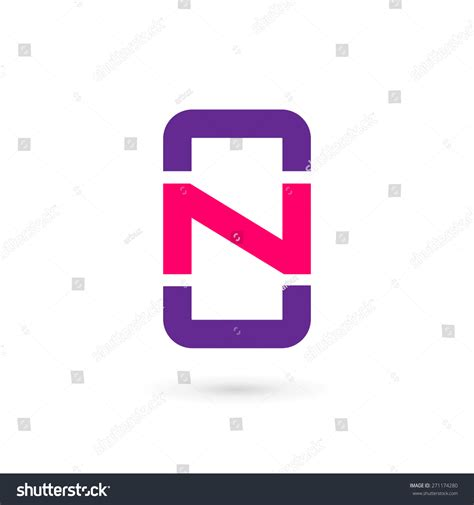 app icon design template mobile phone app letter n logo stock vector 271174280