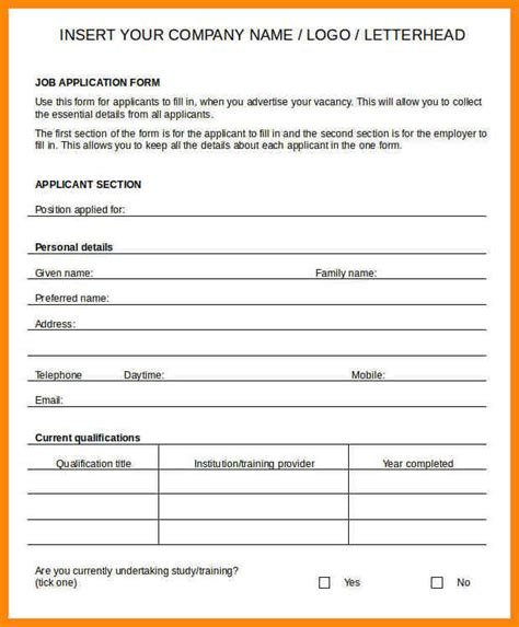 printable job application for h m 5 blank employment application form emails sle