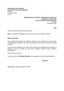 lettre de consultation des d 233 l 233 gu 233 s du personnel sur le