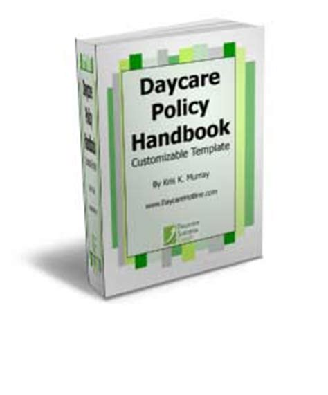 daycare policy handbook template how to start a daycare