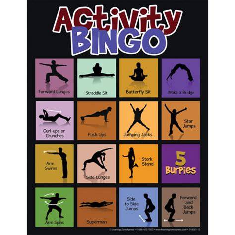 Online Floor Planer physical activity bingo
