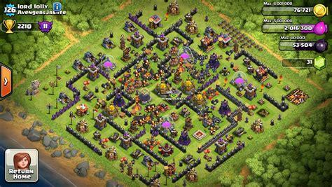 bases coc la familia clan view image hdv10 labyrinthe clash of clans france