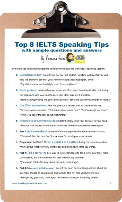 7 Tips On Speaking by Get A 7 On The Ielts Speaking