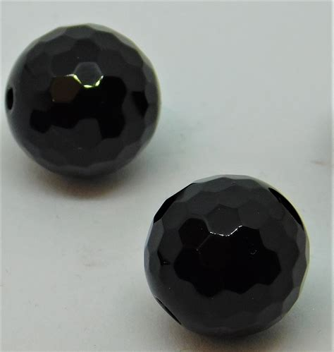 faceted onyx black faceted onyx 12mm bead 10 pack and more