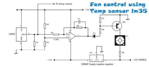 ceiling fans with temperature controls fan temperature sensor lm35 electronic circuit