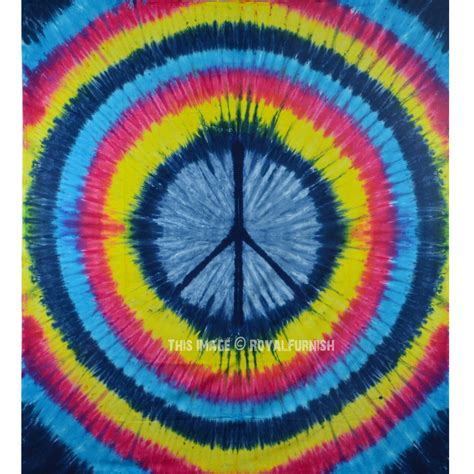 colorful tapestry colorful rainbow tie dye peace sign wall tapestry hippie