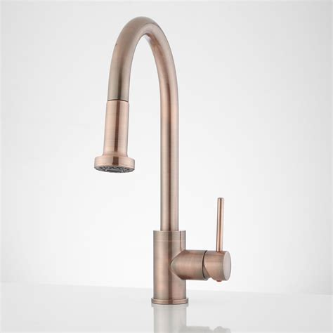 copper kitchen faucets bainbridge pull down kitchen faucet contemporary lever