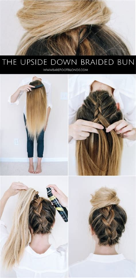 tutorial upside hairbun newbie 20 gorgeous 5 minute hairstyles to save you some snooze