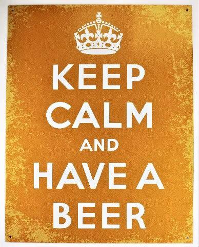 calm    beer tin metal sign beer humor funny