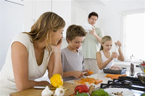 family in kitchen eat healthier with these 4 makeovers weight smart