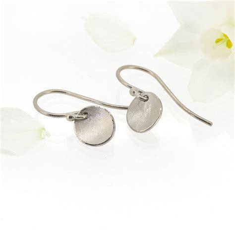 Flower Petals Earrings Black No 02a35cr flower petal earrings in 18ct white gold by lilia nash