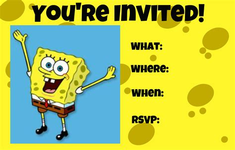spongebob invitation templates how to make a custom spongebob squarepants invitation