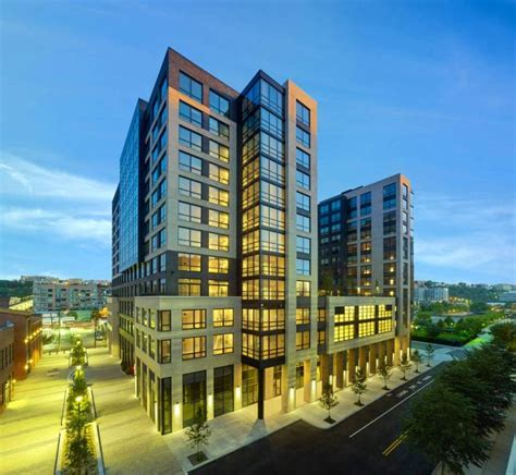 new luxury apartments open near hoboken and jersey city renters enjoying upscale green living at park garden