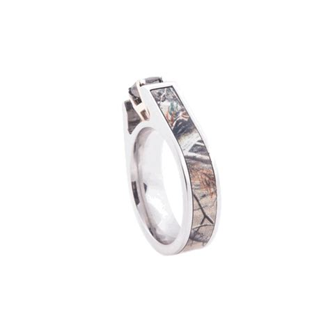 black cathedral cut camo ring by titanium buzz