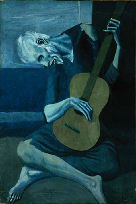 Amazing Art Institute Of Chicago After Dark #3: PabloPicasso-The-Old-Guitarist-1903.jpg