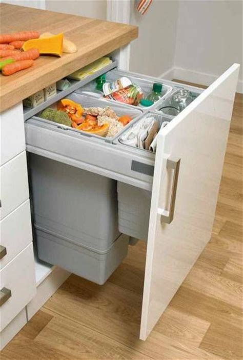 kitchen bin ideas large integrated recycling bin kitchen pinterest