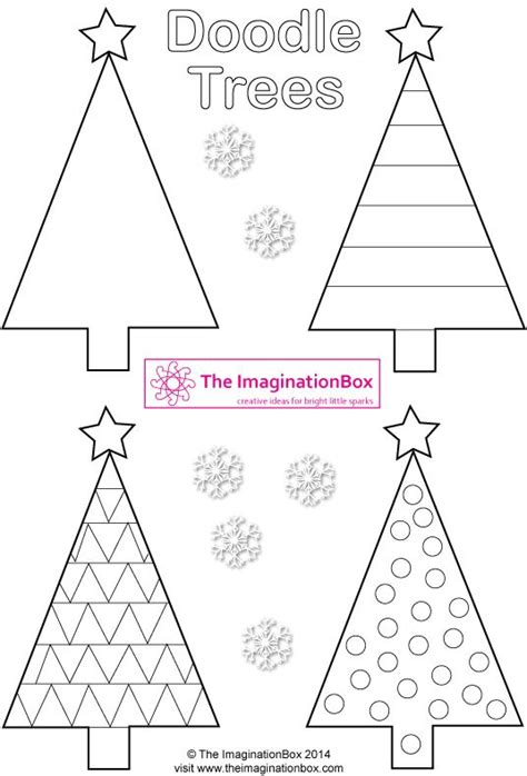 triangle template for christmas tree triangle doodle trees free printable to make tags cards garlands dossier noel