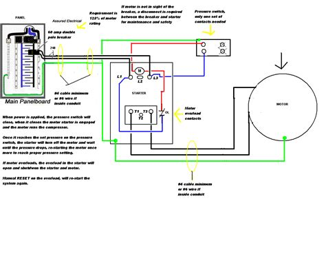 wiring diagram for compressor wiring diagram for air