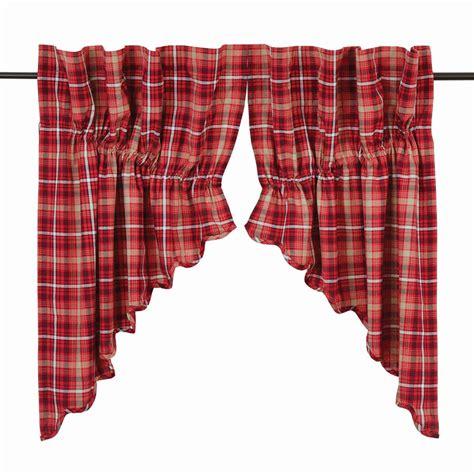 plaid swag curtains braxton plaid prairie swag curtains pair www