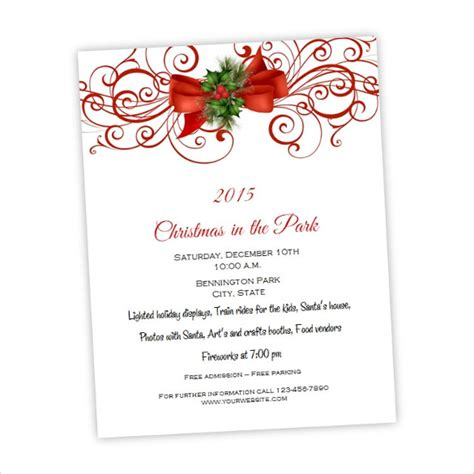 amazing holiday party flyer templates 21 download