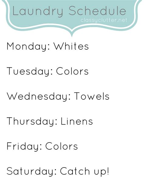printable laundry schedule weekly cleaning schedule improve your cleaning habits