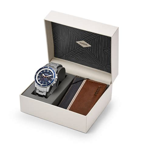 grant sport chronograph stainless steel and wallet