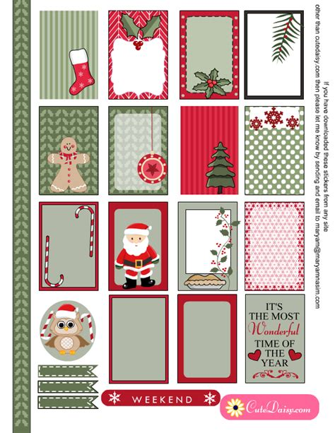 printable eclp stickers cute free printable christmas stickers for happy planner